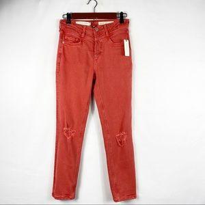 ANTHRO Pilcro Ultra High Rise Slim Straight Jeans